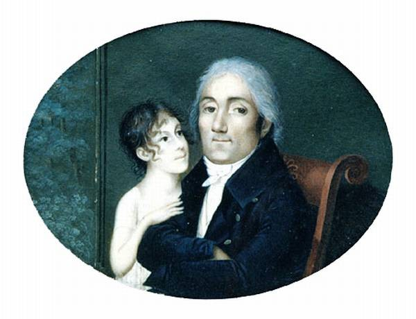 Guiran Francois Portrait Of A Gentleman And His Daughter